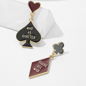 New Alice In Wonderland Earrings